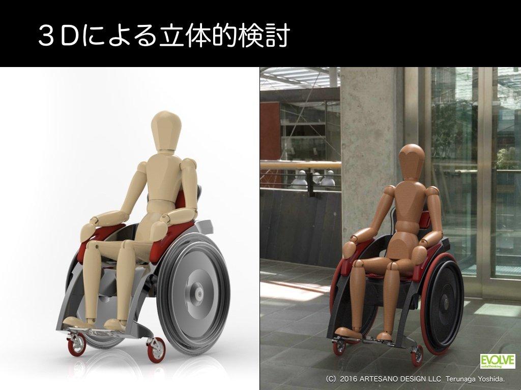 solidThinking 3Dミライデザイン 3Dによる立体的検討(車椅子)
