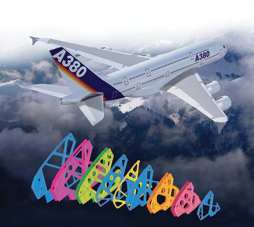 図2:エアバスA380の主翼リブのシミュレーション。