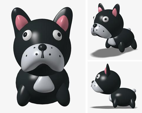 4?歳の日本人エンジニアがInspireで再現した愛犬(フレンチブルドッグ)