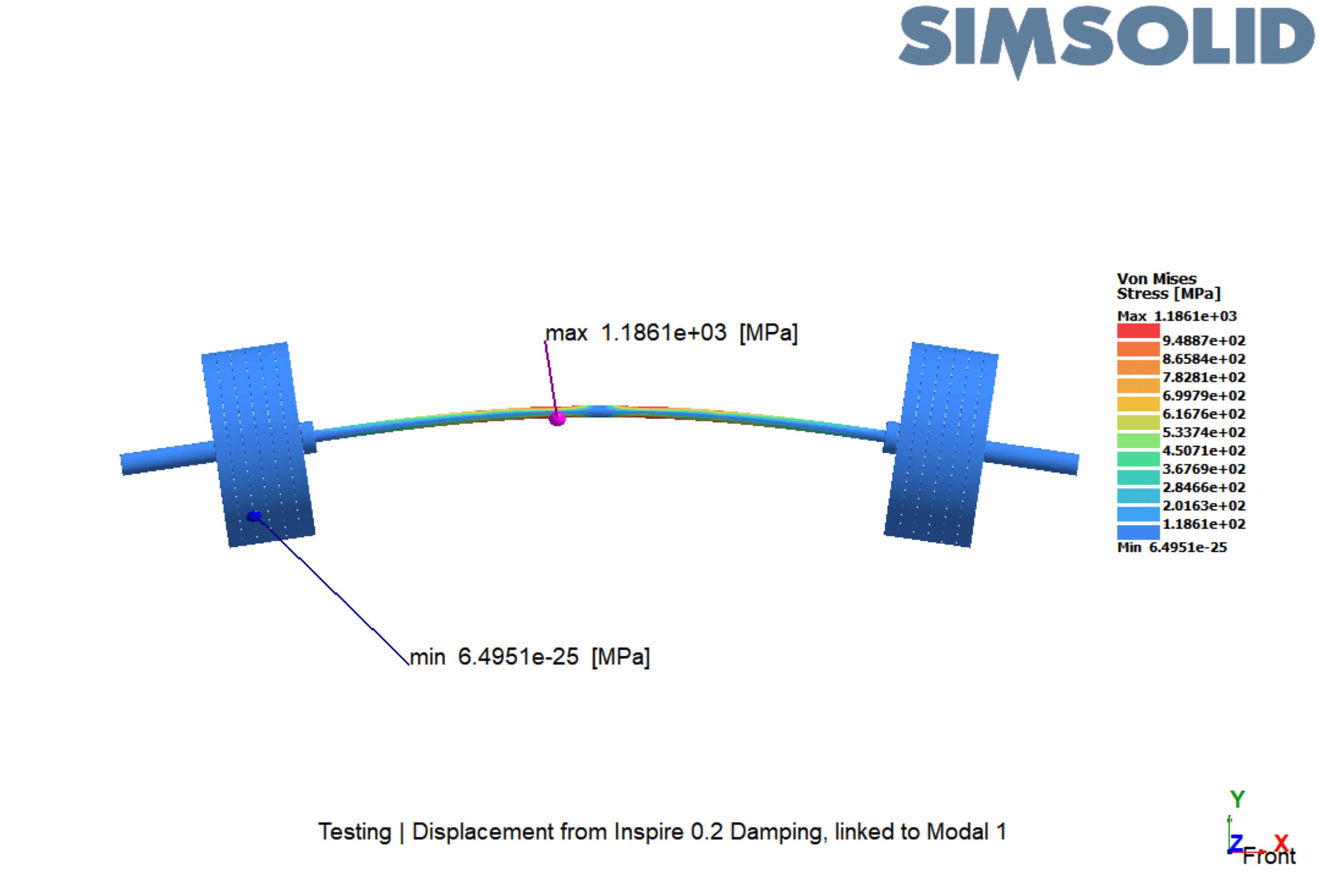 SimSolidによる応力集中の結果